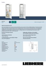 Product informatie LIEBHERR koelkast inbouw IRf5101-20