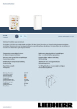 Product informatie LIEBHERR koelkast kastmodel K2630-21