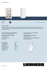 Product informatie LIEBHERR koelkast kastmodel K2814-21