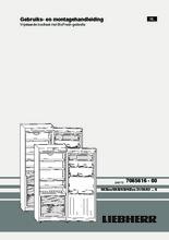 Product informatie LIEBHERR koelkast kastmodel KB4260-23