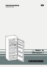 Product informatie LIEBHERR koelkast kastmodel KP2620-20