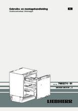 Product informatie LIEBHERR koelkast onderbouw UIK1550-20