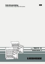 Product informatie LIEBHERR koelkast onderbouw UIK1620-23