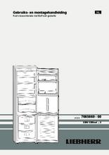 Product informatie LIEBHERR koelkast rvs CBNesf3733-21
