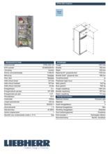 Product informatie LIEBHERR koelkast staalgrijs CTPsl2541-20