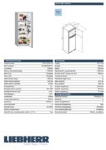 Product informatie LIEBHERR koelkast staalgrijs CTPsl2921-20