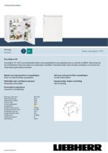 Product informatie LIEBHERR koelkast tafelmodel TP1720-22