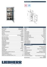 Product informatie LIEBHERR koelkast wijn inbouw WTEes2053-23