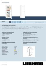 Product informatie LIEBHERR koelkast wit CN4213-23