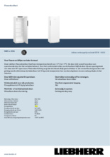 Product informatie LIEBHERR professionele koelkast MRFvc3501-20