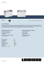 Product informatie LIEBHERR professionele vrieskist - ijsconservator EFE3052-41