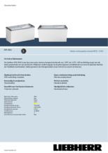 Product informatie LIEBHERR professionele vrieskist - ijsconservator EFE4652-41