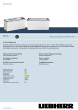 Product informatie LIEBHERR professionele vrieskist - ijsconservator EFE5152-41