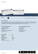 Product informatie LIEBHERR professionele vrieskist - ijsconservator EFE6052-41