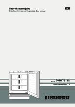 Product informatie LIEBHERR vrieskast onderbouw UIG1323-21