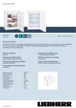 Product informatie LIEBHERR vrieskast tafelmodel GNP1076-20