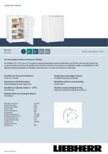 Product informatie LIEBHERR vrieskast tafelmodel GP1376-21