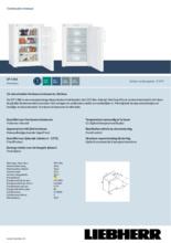 Product informatie LIEBHERR vrieskast tafelmodel GP1486-21