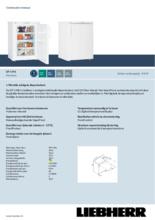 Product informatie LIEBHERR vrieskast tafelmodel GP1496-20