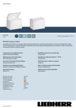 Product informatie LIEBHERR vrieskist CFF1870