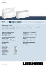 Product informatie LIEBHERR vrieskist CFF2500