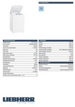 Product informatie LIEBHERR vrieskist GT1432-20