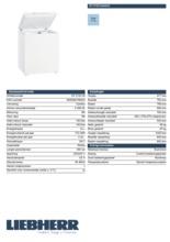 Product informatie LIEBHERR vrieskist GT2132