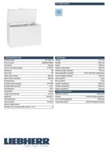 Product informatie LIEBHERR vrieskist GT4232