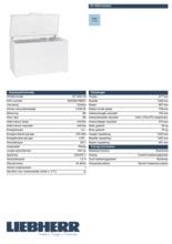 Product informatie LIEBHERR vrieskist GT4932