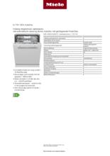 Product informatie MIELE vaatwasser inbouw G7161 SCVI