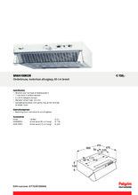 Product informatie PELGRIM afzuigkap onderbouw motorloos MWA100KOR