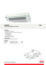 Product informatie PELGRIM afzuigkap onderbouw wit WA100WIT