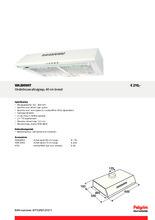 Product informatie PELGRIM afzuigkap onderbouw wit WA200WIT