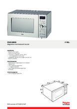 Product informatie PELGRIM combi-magnetron rvs PCM128RVS