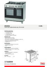 Product informatie PELGRIM fornuis rvs NF942RVSA