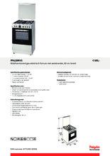 Product informatie PELGRIM fornuis rvs PF6239RVS