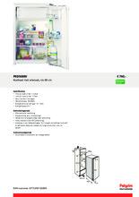 Product informatie PELGRIM koelkast inbouw PKD5088V