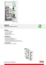 Product informatie PELGRIM koelkast inbouw PKD5122V