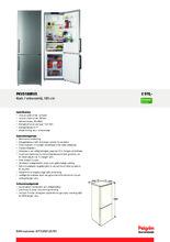 Product informatie PELGRIM koelkast rvs PKV5180RVS