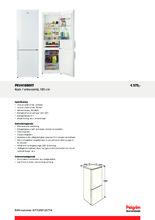 Product informatie PELGRIM koelkast wit PKV4180WIT