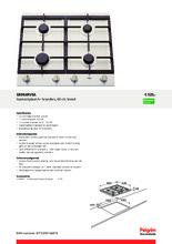 Product informatie PELGRIM kookplaat inbouw GK964RVSA