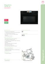 Product informatie PELGRIM magnetron inbouw MAG834MAT