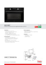 Product informatie PELGRIM oven met magnetron MAC514MAT
