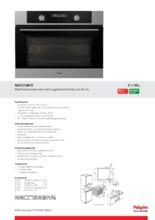 Product informatie PELGRIM oven met magnetron MAC514RVS