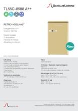Product informatie SCHAUB LORENZ koelkast crème TL55C-8588