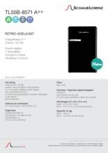Product informatie SCHAUB LORENZ koelkast mat zwart TL55B-8571