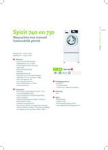Product informatie SCHULTHESS wasmachine SPIRIT TOPLINE 740 WIT
