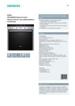 Product informatie SIEMENS combinatie oven inbouw rvs HE33GB550