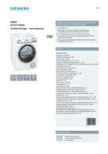 Product informatie SIEMENS droger warmtepomp WT47Y700NL