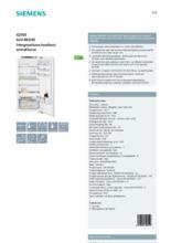 Product informatie SIEMENS koelkast inbouw KI41RED30